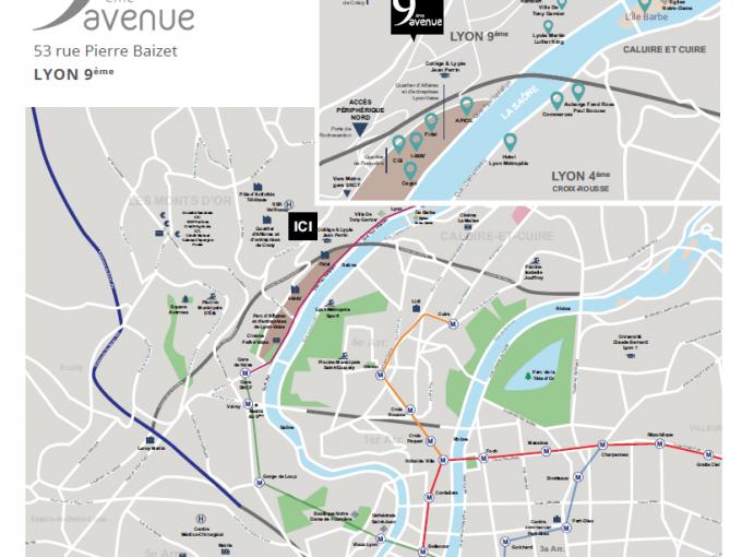 Plan de situation Lyon 9ème rue